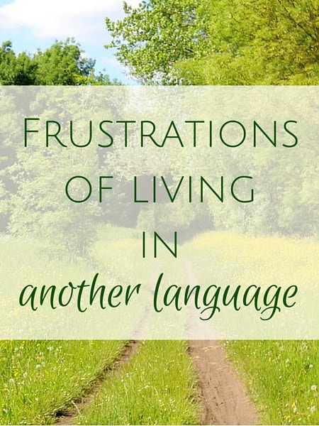 Frustrations of living in another language