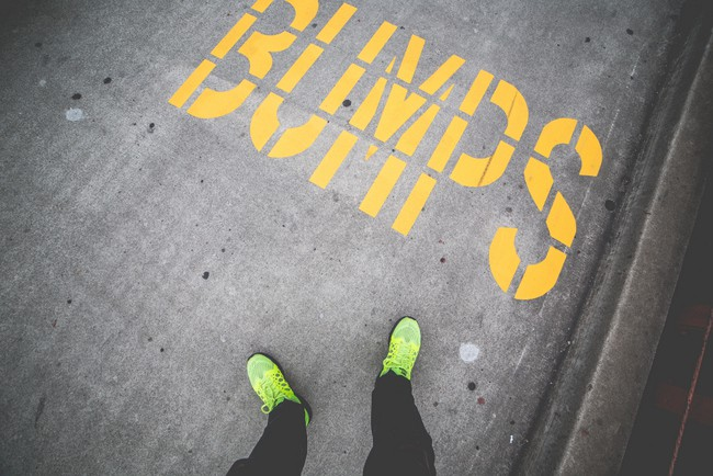 bumps-yellow-sidewalk-road-marking-picjumbo-com