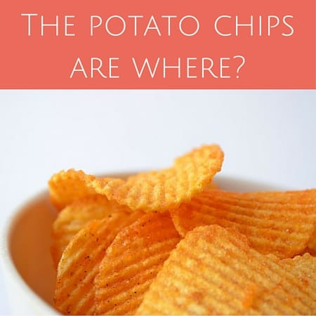 The potato chips are where-