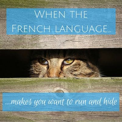 Learning French is hard and makes you want to run and hide