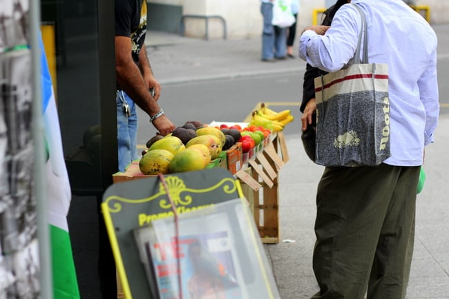 fruit stand on paris street