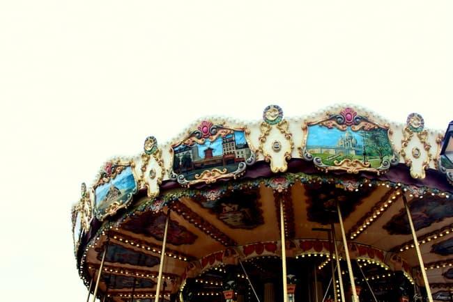 honfleur carousel normandy port