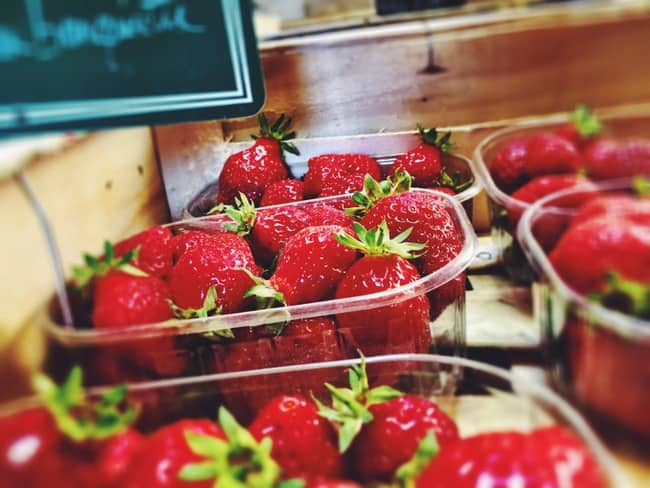 strawberries from farmers market
