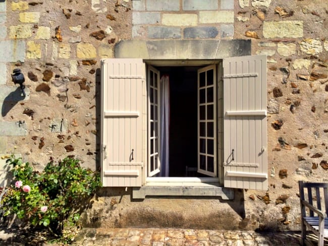 charming french window