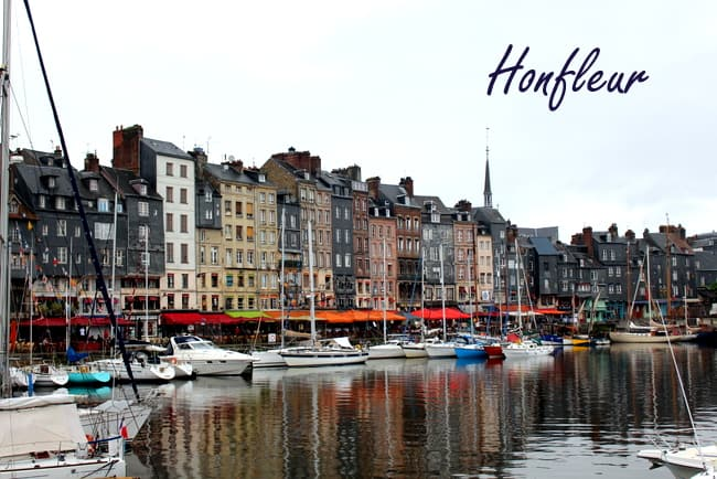 honfleur normandy france dusk