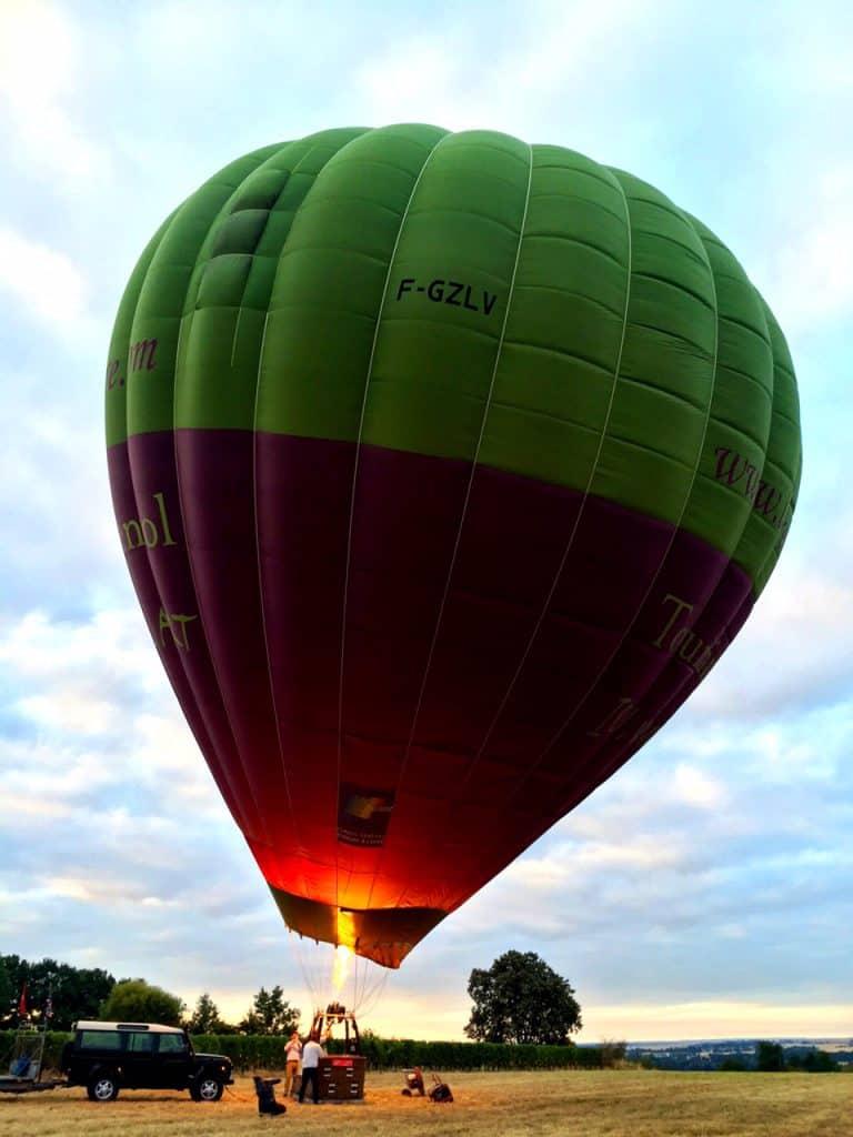 hot air balloon loire valley