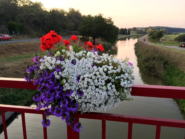france-canal-lock-flowers