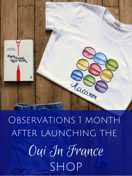 Observations 1 month after launching the Oui In France shop