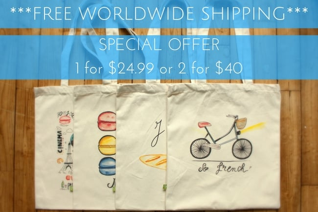 francophile tote bags oui in france