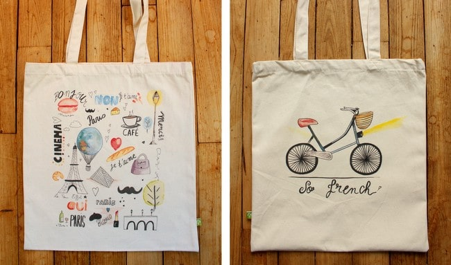oui in france tote bag new designs