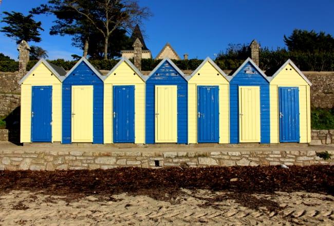 ile aux moines beach cabanas