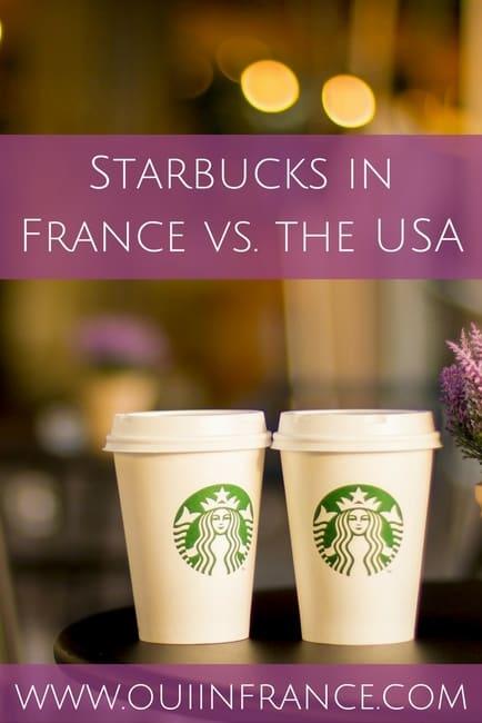 Starbucks in France vs. the USA