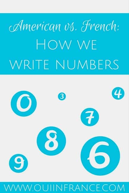 American vs. French- How we write numbers