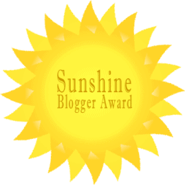 The Sunshine Blogger Award: Some Friday fun