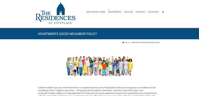 good neighbor policy residences city place west palm