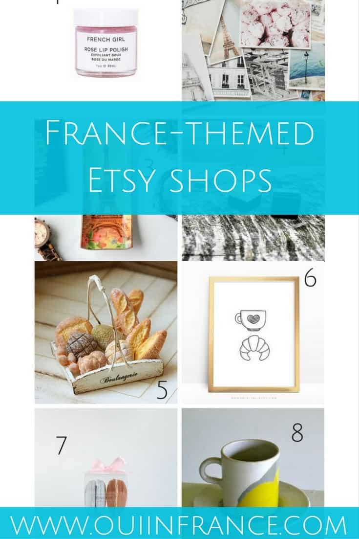 france themed etsy shops