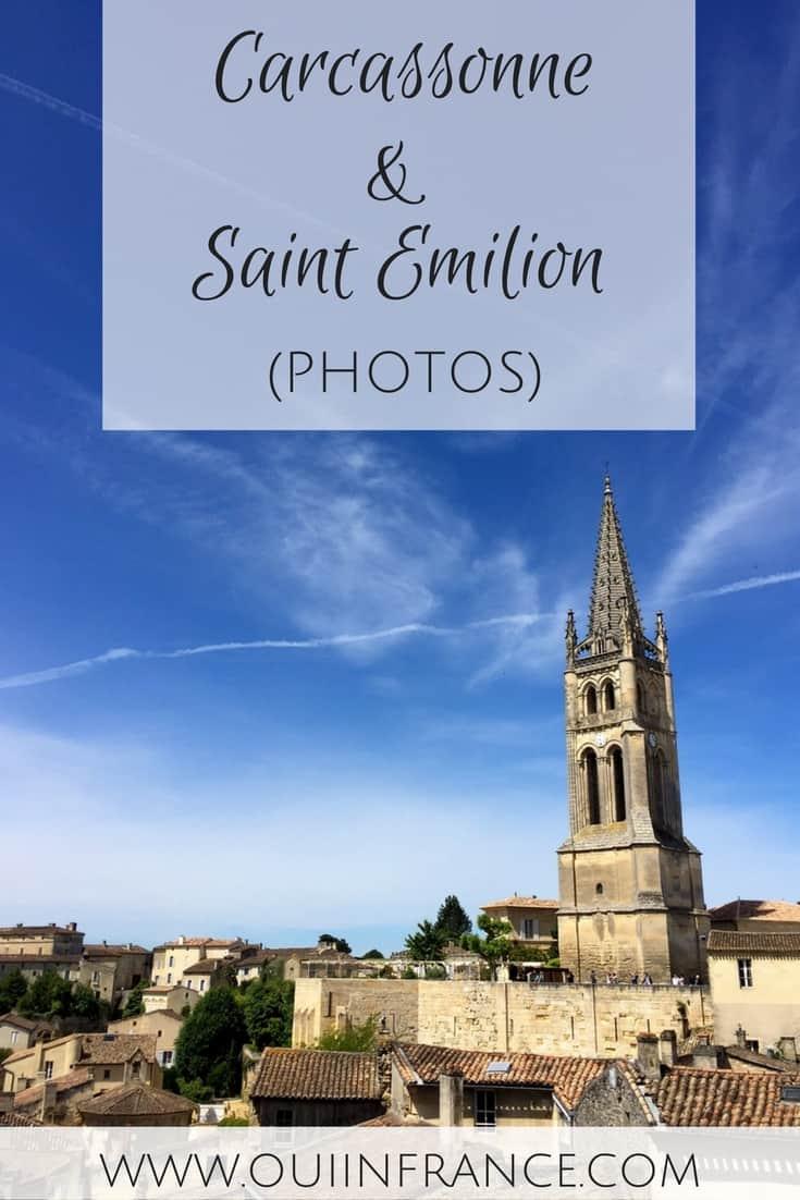 carcassonne and saint emilion france photos