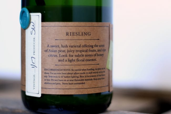 rewined candle label