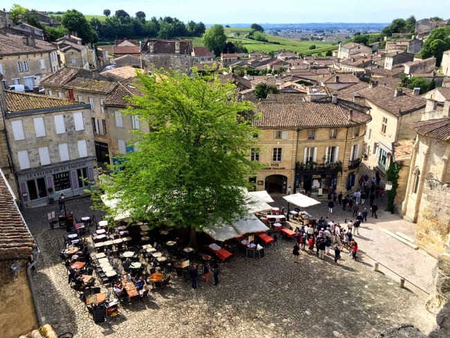 saint emilion view from above
