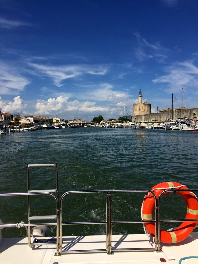 aigues mortes from the boat