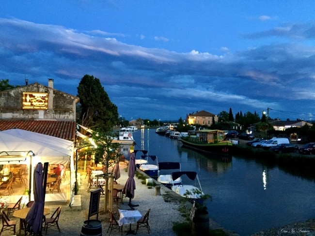 le somail canal france night