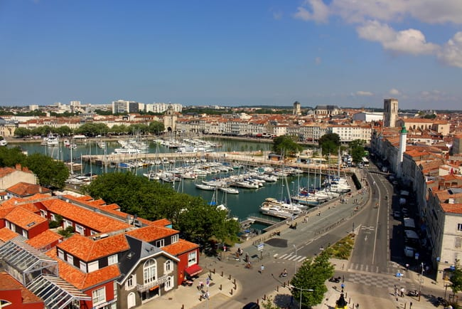 le vieux port la rochelle view from ferris wheel