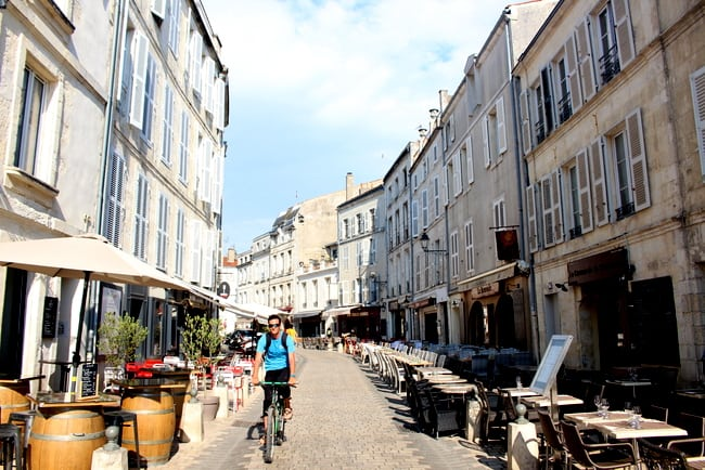 streets of la rochelle france on sunny day