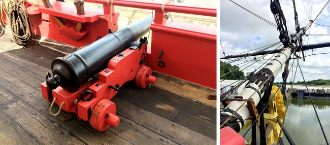 hermione ship cannon rochefort france