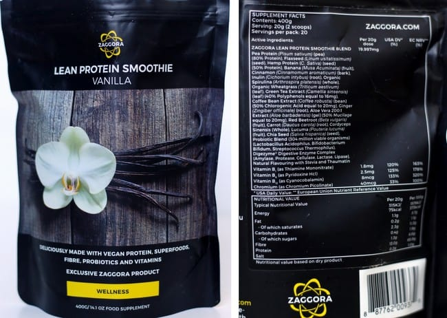 zaggora vanilla protein review ingredients