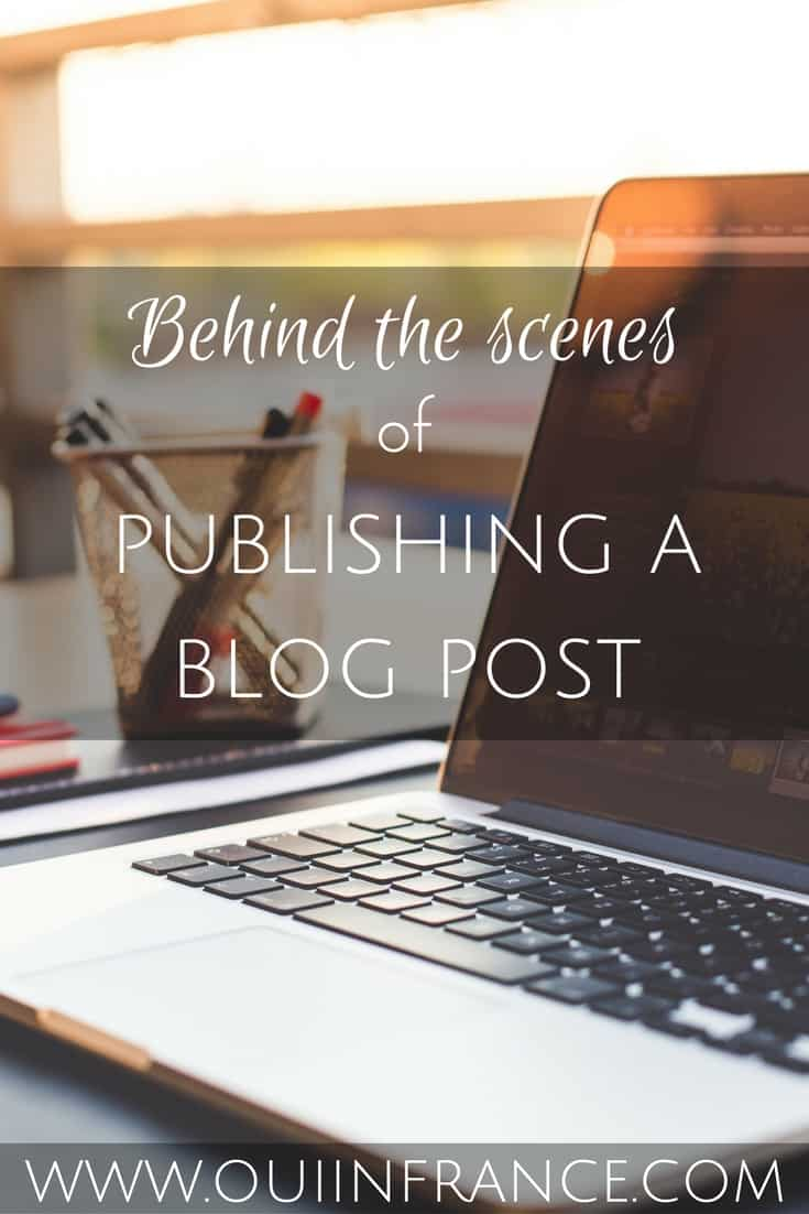 Behind the scenes of publishing a blog post