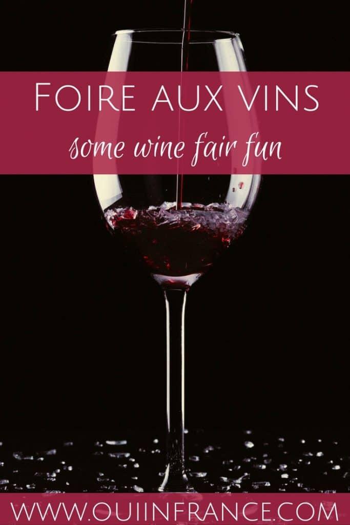Foire aux vins wine fair
