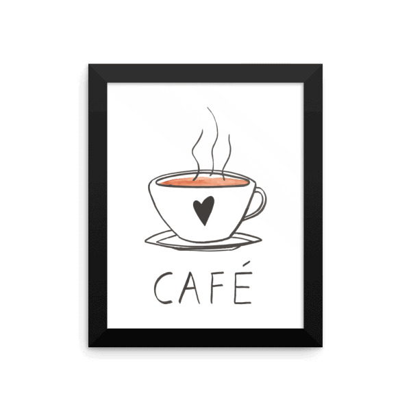 cafe white wall art