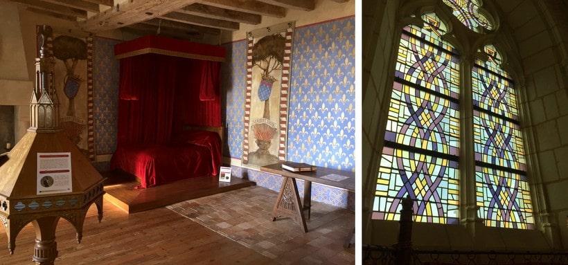Château de Baugé bedroom and chapel