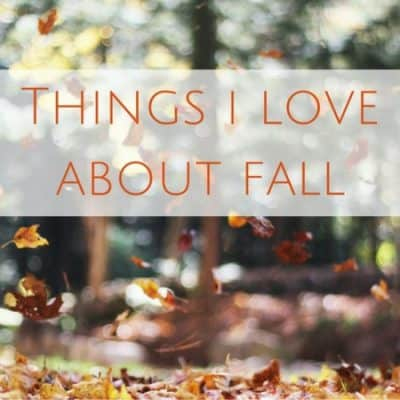 What I love about fall