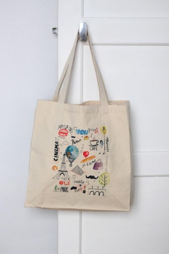 francophile scene new tote bag