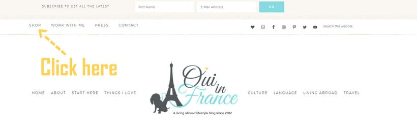 new oui in france shop