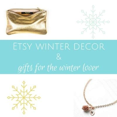 Etsy winter decor & gifts for the winter lover
