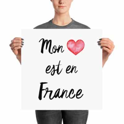 "Happy Thanksgiving and new ""My heart is in France"" design in the shop!"