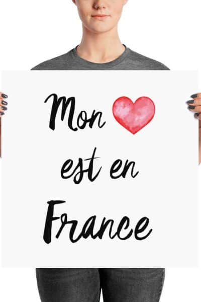"""Happy Thanksgiving and new """"My heart is in France"""" design in the shop!"""