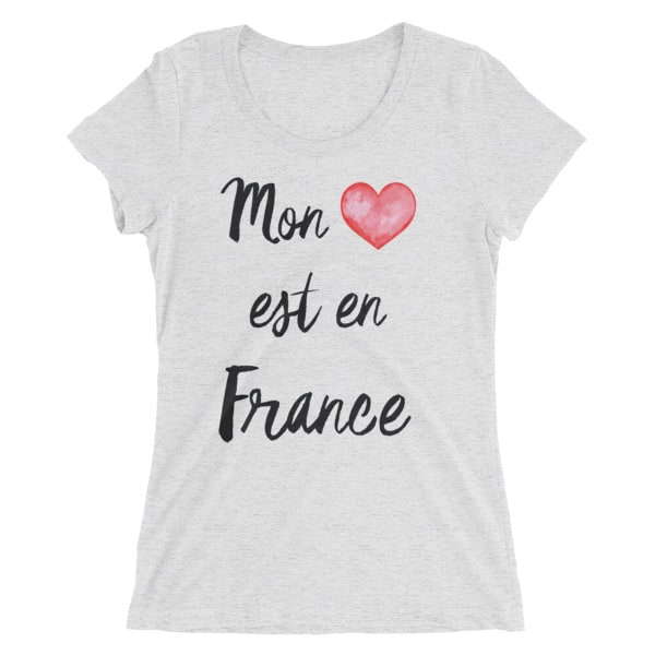 my heart is in france vintage tee