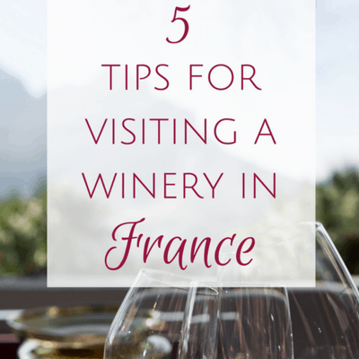 tips for visiting a winery in france