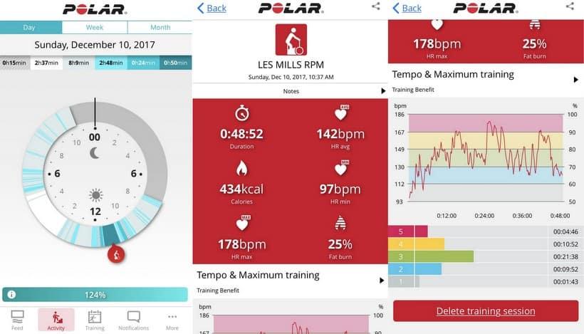 polar flow app stats