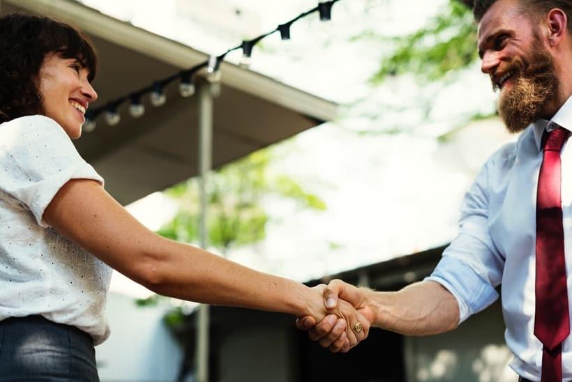 french workplace handshake
