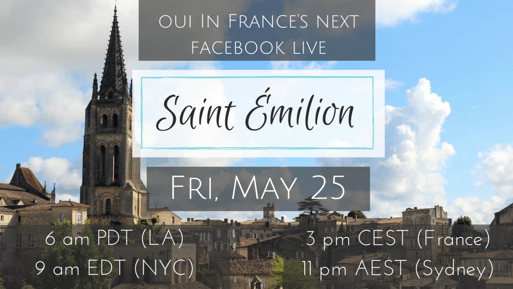 facebook live saint emilion france