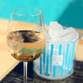 rose piscine wine with ice