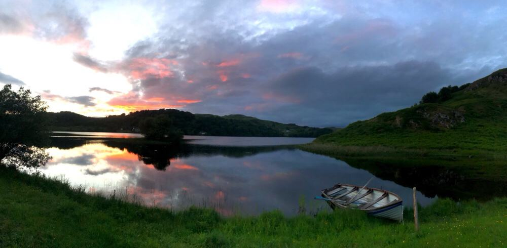 View from our cottage near Oban at dusk