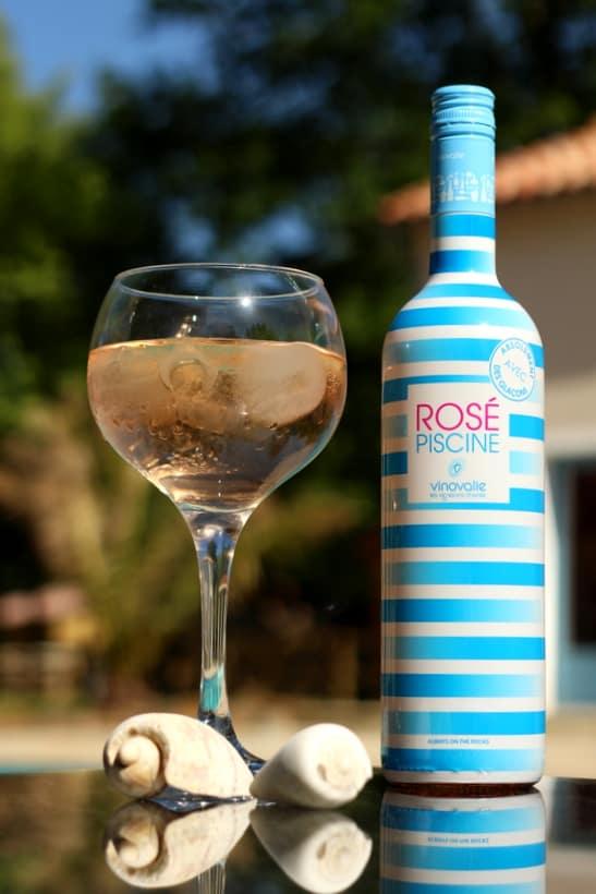 rose piscine wine ice cubes