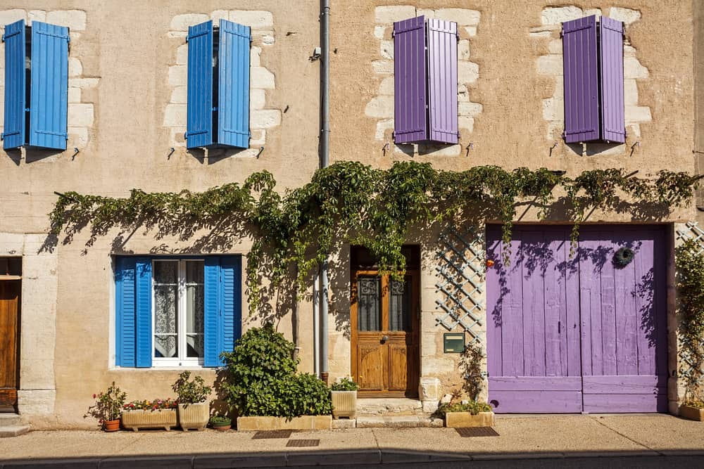 french house window shutters volets