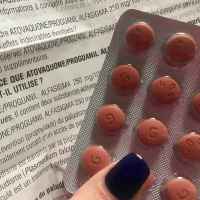 My atypical experience taking the antimalarial drug Malarone