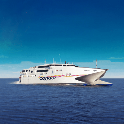 condor ferries with pets jersey france